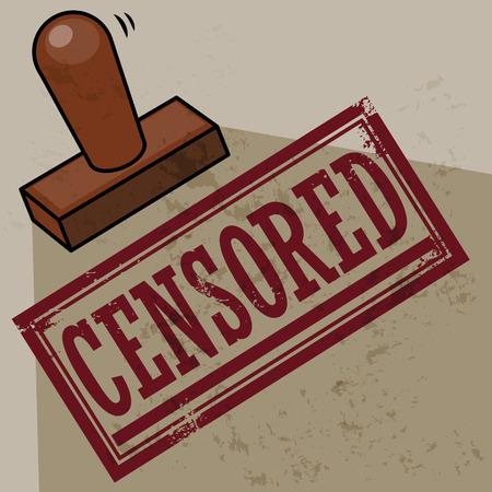 censored: Stamp Censored Illustration