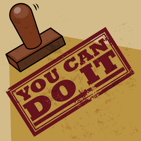do it: Stamp You Can Do It Illustration