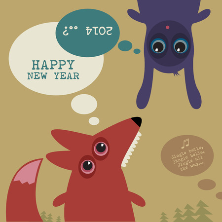 new year s card: New Year s Eve greeting card