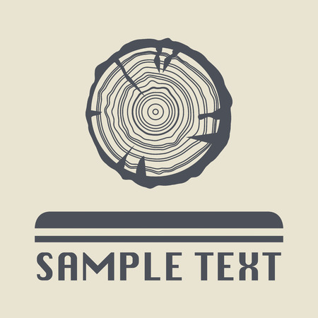 trunks: Growth rings icon or sign Illustration