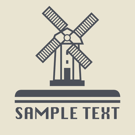 Windmill icon or sign Vector