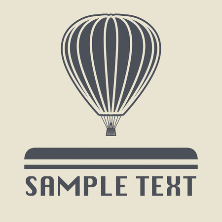 air sport: Hot air balloon icon or sign Illustration