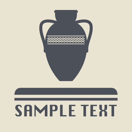 Antique amphora icon or sign Vector