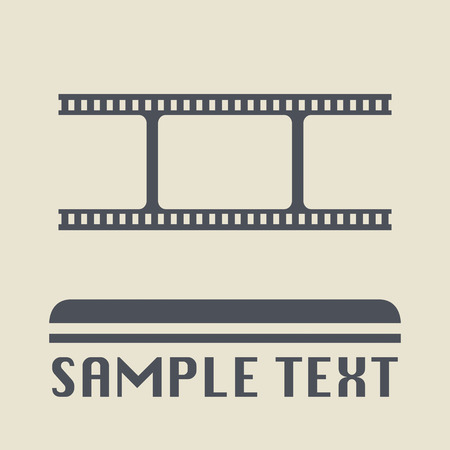 35 mm: Blank film icon or sign