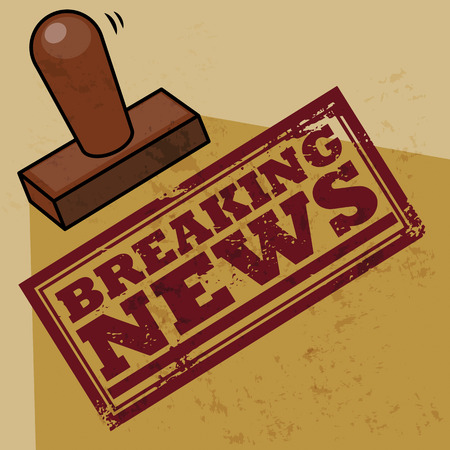 Stamp Breaking news Vector