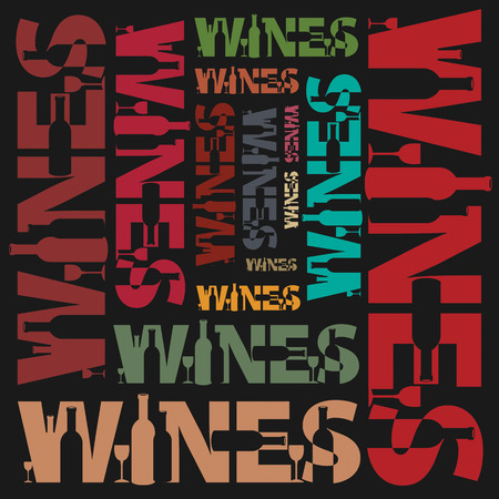 blanc: Abstract background with words Wines