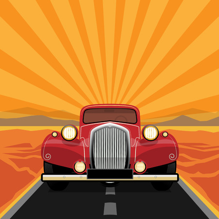 Vintage, retro car Vector