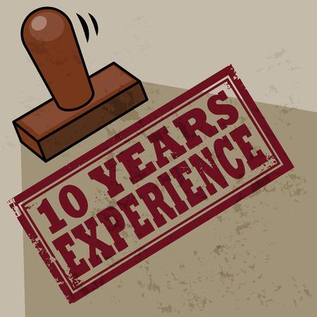 경험: 10 년의 경험 스탬프
