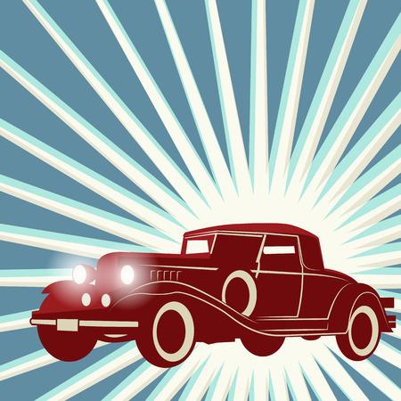 Vintage tle retro samochód