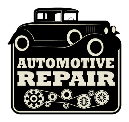 Vintage automotive repair sign Vector