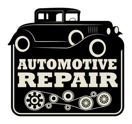 parameter: Vintage automotive repair sign