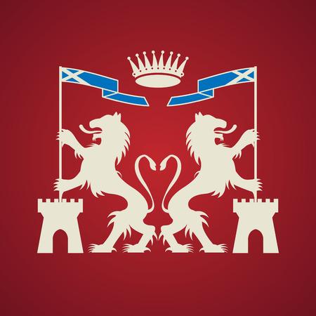 Heraldic emblem Stock Vector - 24651050