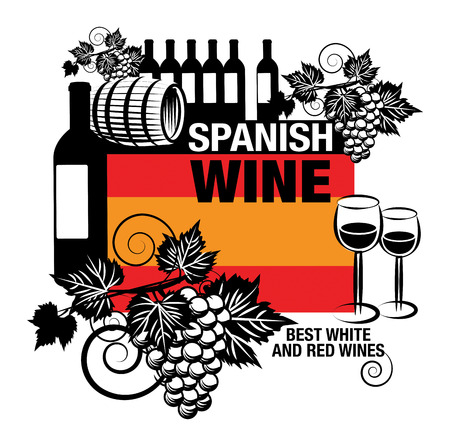 Stamp with words Spanish Wine Vector