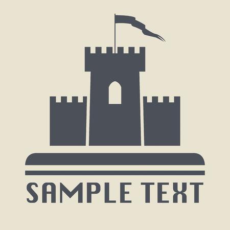 torre: Icono de Castillo o signo Vectores