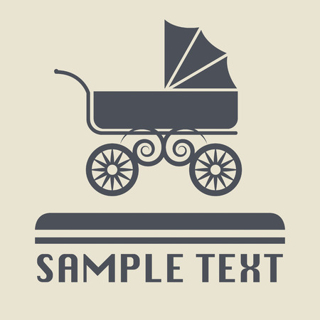 Baby Carriage icon or sign Vector