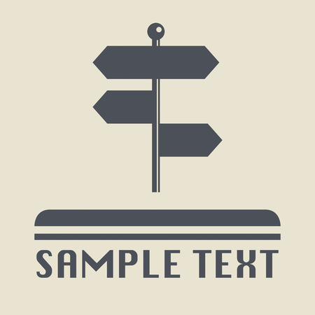 signpost: Signpost icon or sign Illustration