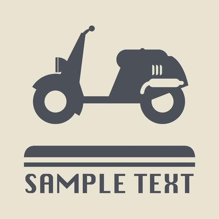 vespa piaggio: Icona scooter o segno Vettoriali
