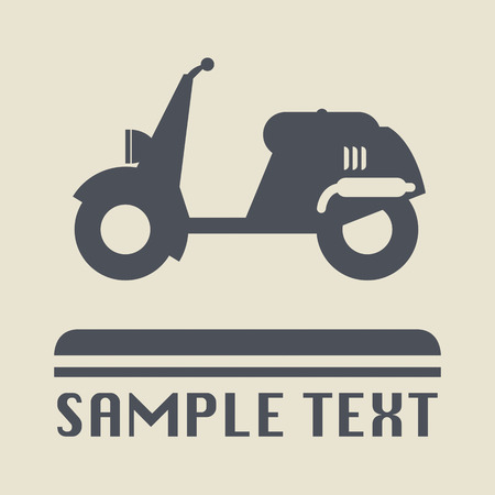 Scooter icon or sign Vector