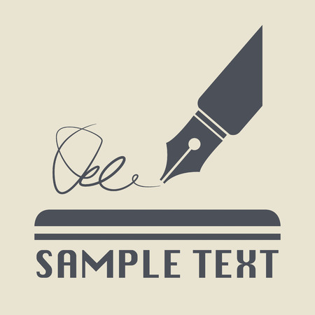 Pen icon or sign