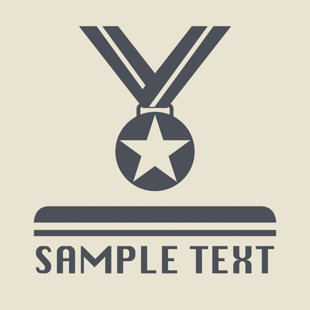 Medal icon or sign Vector