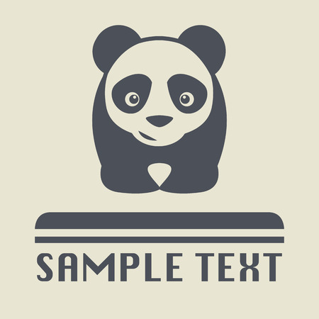 Panda icon or sign Vector