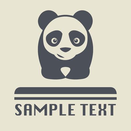ojos caricatura: Panda icono o signo