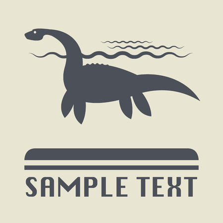 Dinosaur icon or sign Vector
