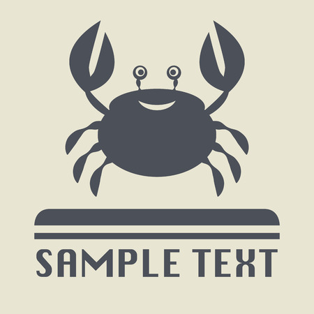 cancer crab: Crab icon or sign