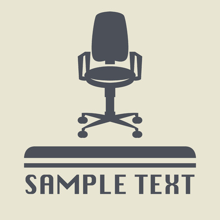 arm chair: Office chair icon or sign Illustration