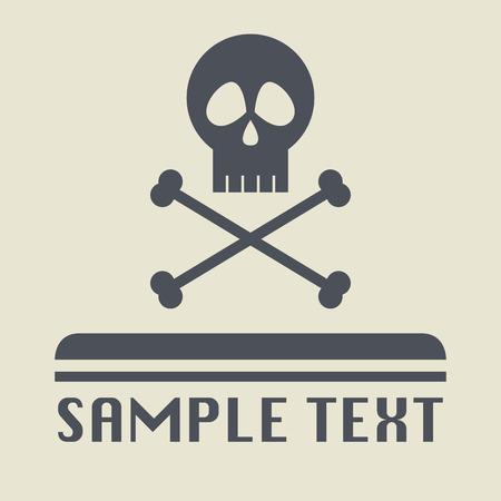 skull icon: Skull icon or sign Illustration