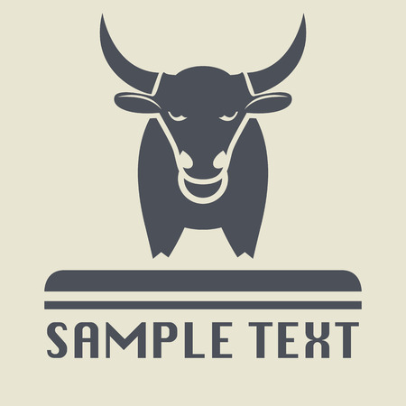 bull head: Bull icon or sign