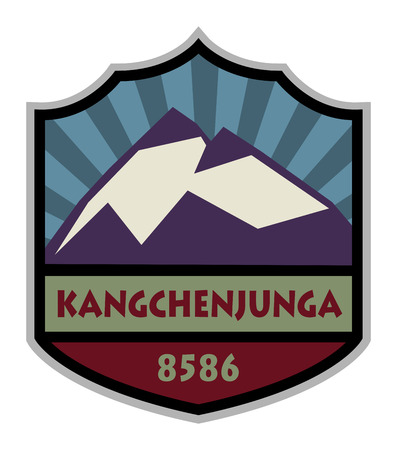 Mountain expedition sign Vector