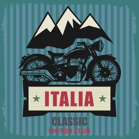 cooled: Vintage Motorcycle label