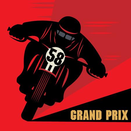 classic: Etiqueta de la raza de la motocicleta de la vendimia