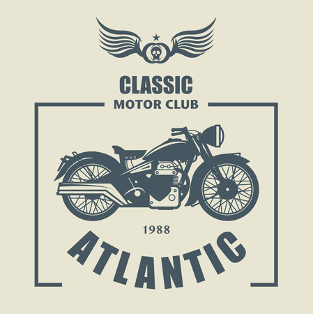 Vintage Motorcycle label Vector