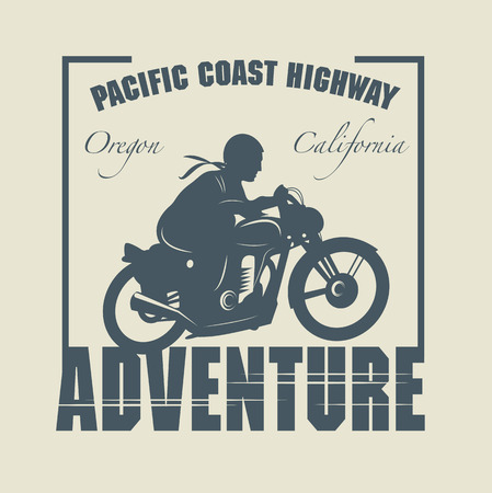 Vintage Motorcycle adventure label Vector