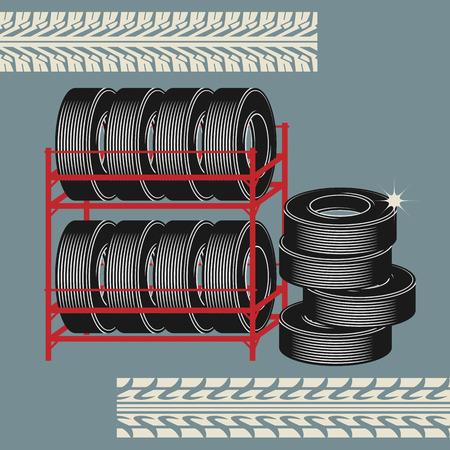 car race track: Tires