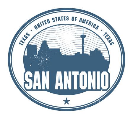グランジ ゴム印テキサス、San Antonio の名前  イラスト・ベクター素材