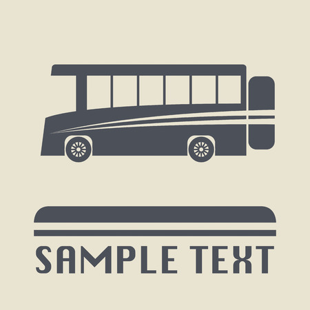 Bus icon or sign Stock Vector - 25962059