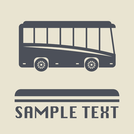 Bus icon or sign Vector