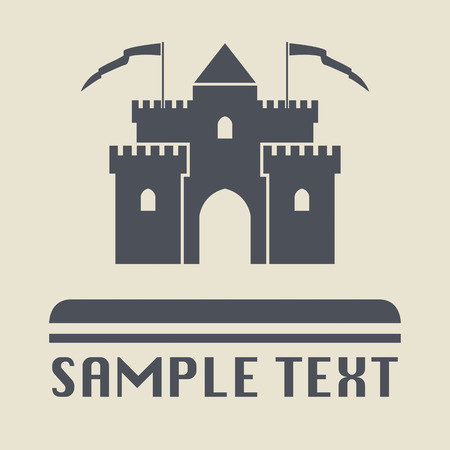 castle silhouette: Castle icon or sign Illustration