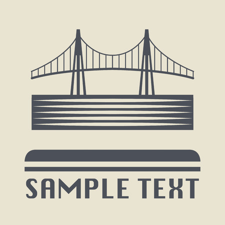 rope bridge: Bridge icon or sign