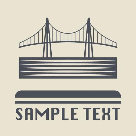 steel bridge: Bridge icon or sign