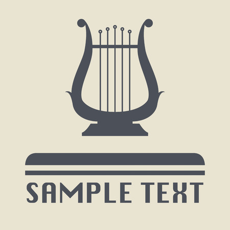 Lyre icon or sign Vector