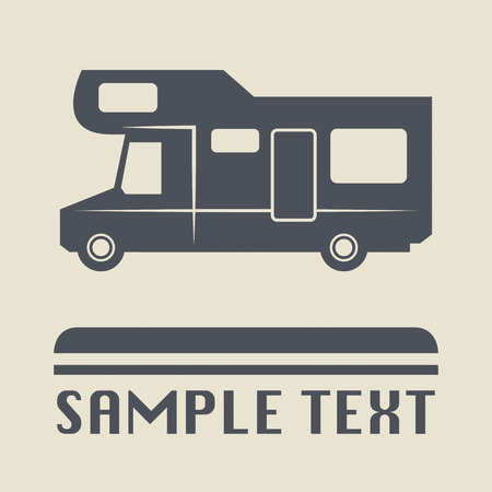 Camper icon or sign