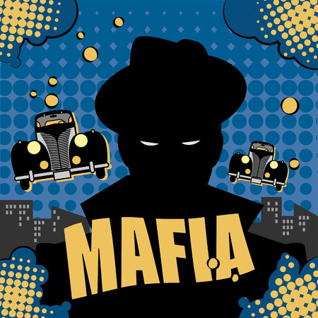 gangster background: Abstract mafia or gangster background Illustration