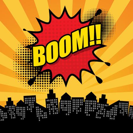 Comic book explosie abstracte