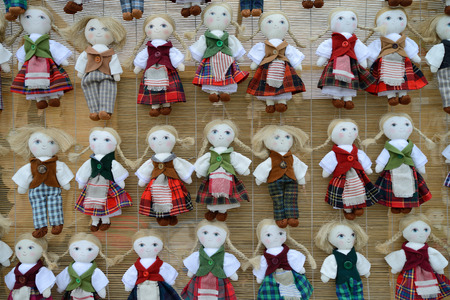 VILNIUS, LITHUANIA - MARCH 7  Traditional hand made toys in annual traditional crafts fair - Kaziuko fair on Mar 7, 2014 in Vilnius, Lithuania