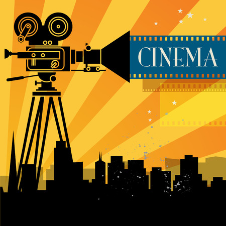 Abstract cinema background Vector
