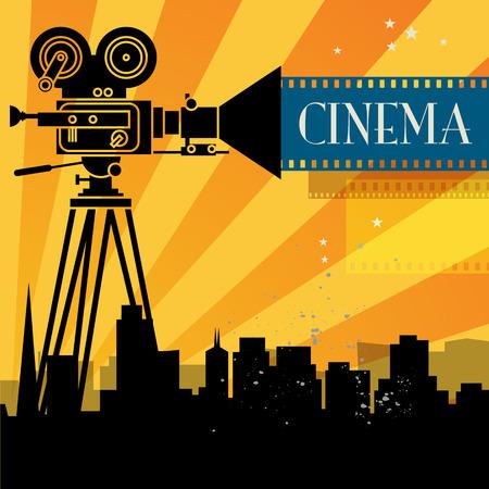 Abstracte cinema achtergrond